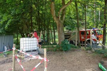 Die Heimbuchenthaler Feuerwehr versorgt uns stets mit frischem Brauchwasser.