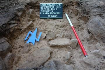Zahlreiche michelsbergerzeitliche Scherben fanden sich in Schnitt 4.