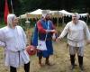 Auch am Ende des Burgfestes waren Akteure und Helfer noch guter Laune.