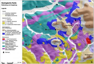 Geologische Karte Rottenberg und Umgebung. Karte: Jürgen Jung, Spessart-GIS.