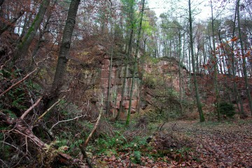 Der Steinbruch vor Begin der Untersuchungen im Winter 2006/2007
