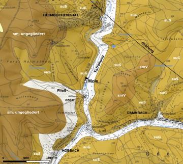 Geologie der Burg Mole Karte: Dr. Jürgen Jung, Spessart-GIS