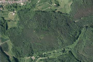 Schlossberg mit Altenburg im Luftbild Orthofoto: Bayerische Vermessungsverwaltung.