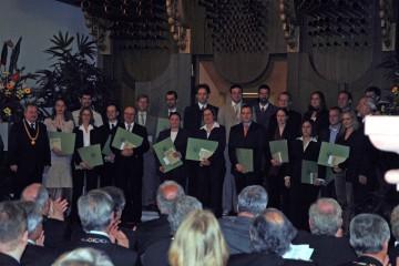 Geballte Sachkompetenz: die Preisträger der Unterfränkischen Gedenkjahrstiftung für Wissenschaft 2007