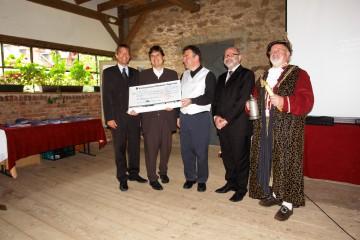 Preisverleihung des Tegernseer Tourismus Preises im Rahmen der Tegernseer Tourismus Tage 2006 an das Archäologische Spessartprojekt anlässlich der Feierstunde am 5. Oktober 2006 im Schlosshotel Weyberhöfe