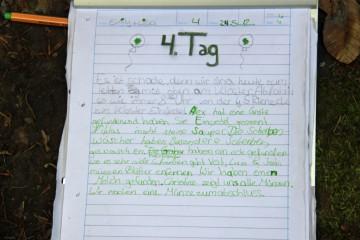 Letzter Grabungstag für die Schüler der Gundschule in Rieneck und für unsere Volontärin Christine. Apropos: Wer oder was ist eine Gröte?