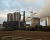 Kleines Kraftwerk - großer Einschnitt in die Kulturlandschaft. Im Braunkohlekraftwerk von Inden zwischen Köln und Aachen wird die im Tagebau gewonnene Braunkohle in Energie umgewandelt. Ganze Kulturlandschaften gehen dadurch unwiederbringlich verloren.