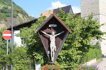 Hölzernes Wegekreuz im Vinschgau, Südtirol (I)