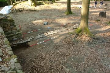 2009 wurden die Fundamente des Palas freigelegt. Dieser war als Fachwerkgebäude errichtet worden.