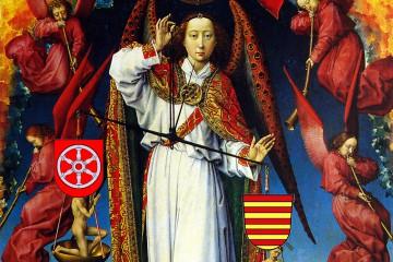 Weltgerichtsaltar von Rogier van der Weyden, Beaune Musée de l'Hôtel-Dieu