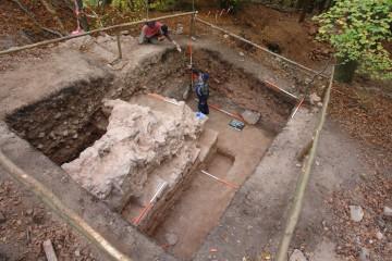 Im Spätjahr 2007 wurden vom Archäologischen Spessartprojekt die Reste der Burg auf dem Gräfenberg ergraben. Sehr wahrscheinlich handelt es sich hierbei um die Rieneckische Festung Landesehre.