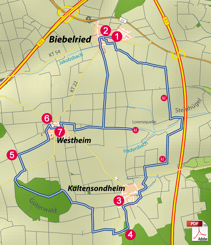 KW Biebelried Karte