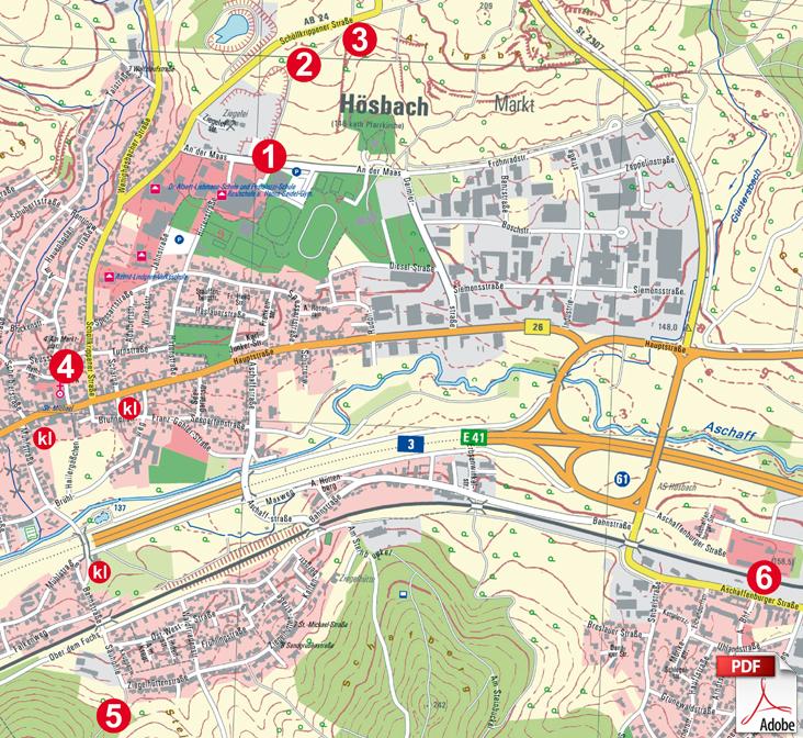 KW Hösbach Karte