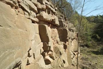 Vor 65 Millionen Jahren, zu Beginn des Tertiärs, war das Klima in Deutschland vergleichbar mit den heutigen Tropen. Intensive chemische Verwitterung zersetzte das Gestein. Sowohl weiches als auch hartes Material wurde angegriffen. Das Gesteinsmaterial wurde sowohl von der Oberfäche aus als auch im Untergrund gelöst. Anschließend spülte flächenhaft fließendes Wasser das Material ab. Über Süddeutschland breitete sich daraufhin eine flach gewellte Landschaft aus. Sie wird auch Rumpfflächenlandschaft genannt. 30 Millionen Jahre später entstand der Oberrheingraben. Krustenbewegungen hoben die Gebiete beiderseits des Grabens an. Die Gesteinsschichten zwischen Spessart und Fränkischer Alb wurden leicht schräg gestellt.