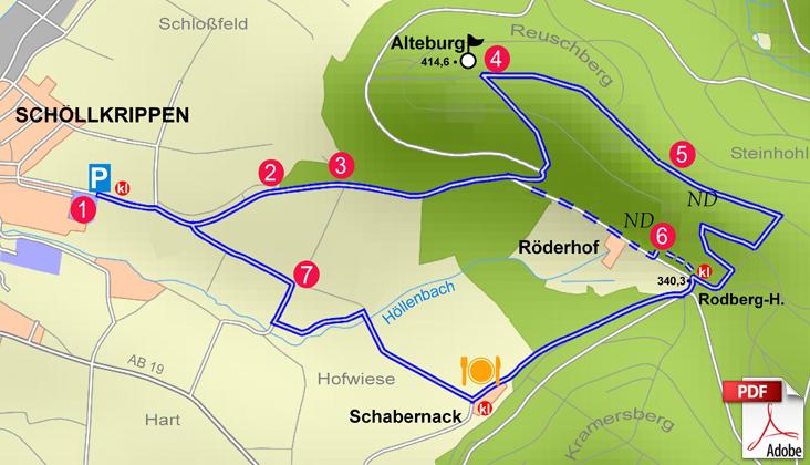 KW Schöllkrippen 2 Karte