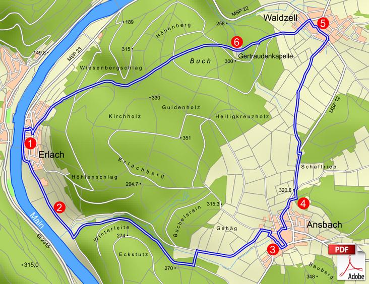 KW Waldsassengau 2 Karte
