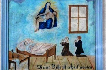 Die Geschichte des Wallfahrtsorts Mariabuchen steht in Verbindung mit sagenhaften Ereignissen. So wird die Legende von einem Muttergottesbild erzählt, das in eine Buche eingewachsen und durch wunderbare Weise wieder entdeckt worden sei. Daraufhin seien Gebete und Bitten der Bewohner der umliegenden Dörfer erhört worden, bis schließlich ein Wallfahrtsort daraus wurde.
