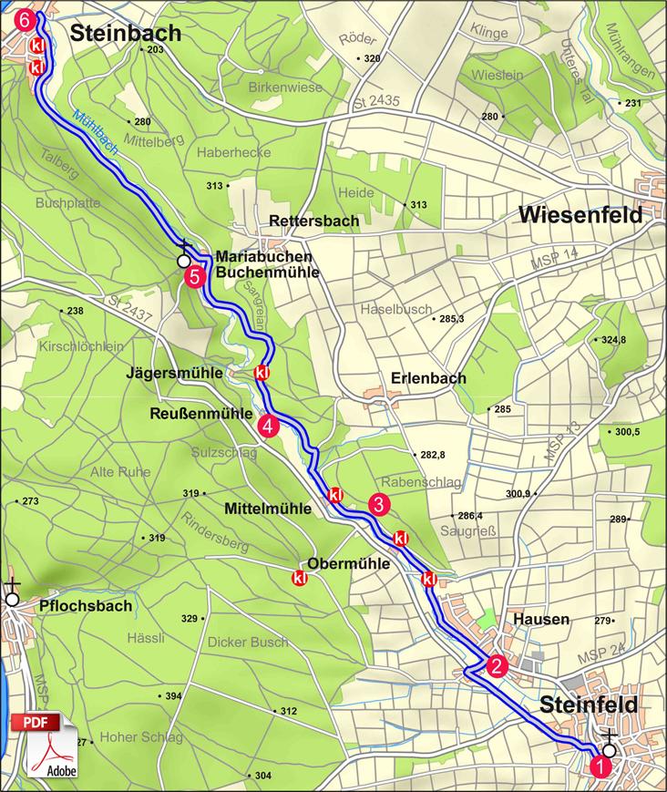 KW Waldsassengau 4 Karte