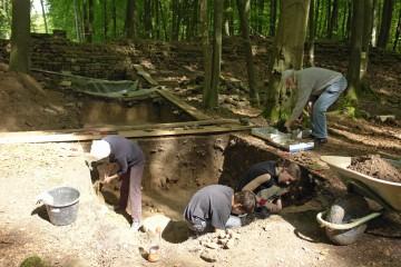 Beim sorgfältigen Abtragen der Auffüllschichten im Burginneren kommen zahlreiche Keramikscherben zu Tage. Sie bestätigen die Vermutung, dass die Anlage wahrscheinlich in der ersten Hälfte des 13. Jahrhunderts bewohnt war.