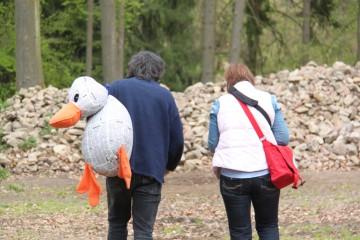 "Paula Print zu Besuch bei den Archäologen auf dem ""Alten Schloss"""