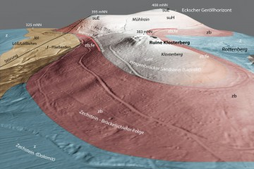 Geologie des Klosterbergs mit Blick nach Osten. Bearbeitung: Jürgen Jung, Spessart-GIS