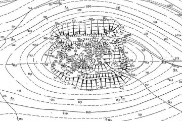 Aufmessung der Strukturen auf dem Klosterberg aus den 1980er Jahren (aus: Ortsakten des Bayerischen Landesamts für Denkmalplege)