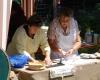 ... fertigten Flammkuchen mittelalterlicher Art.
