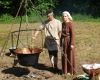 Sabrina und Thomas waren für die mittelalterliche Suppe zuständig.