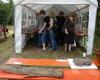 Das Ausstellungszelt mit den Grabungsfunden war die meiste Zeit gestopft voll.