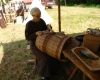 Ein Tragekorb in der Art, wie er auch in der Grabung gefunden wurde.