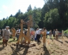 Die Vorführung der Blide bildete den Höhepunkte des Burgfestes 2009.
