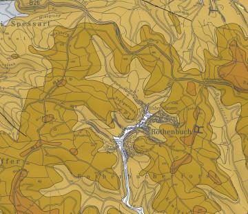 Geologische Übersicht der Umgebung von Rothenbuch. Karte: Jürgen Jung, Spessart-GIS