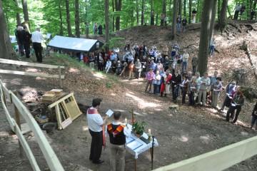Das Grabungsfest begann mit einer ökumenischen Andacht.