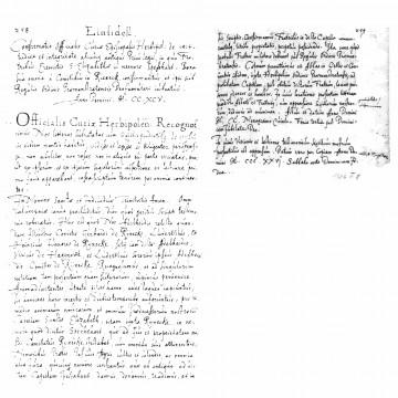 """Eine am 8. März 1326 angefertigte Abschrift der Urkunde von 1295 im Urkundenbuch von Oberzell mit der der """"Einsiedel"""" bei Rieneck im Spessart den Prämonstratensern übergeben wird (Würzburg, Staatsarchiv, Urkundenbuch des Klosters Oberzell, Standbuch 704)."""