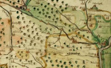 Das Gebiet der Grafschaft Rieneck 1656 (Würzburg, Staatsarchiv, Mainzer Güterbeschreibungen 9).