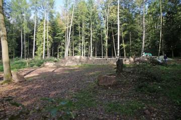 Die Kirche bietet schon jetzt einen imposanten Anblick und gibt eine Vorstellung vom späteren Aussehen des geplanten Archäologie-Parks.