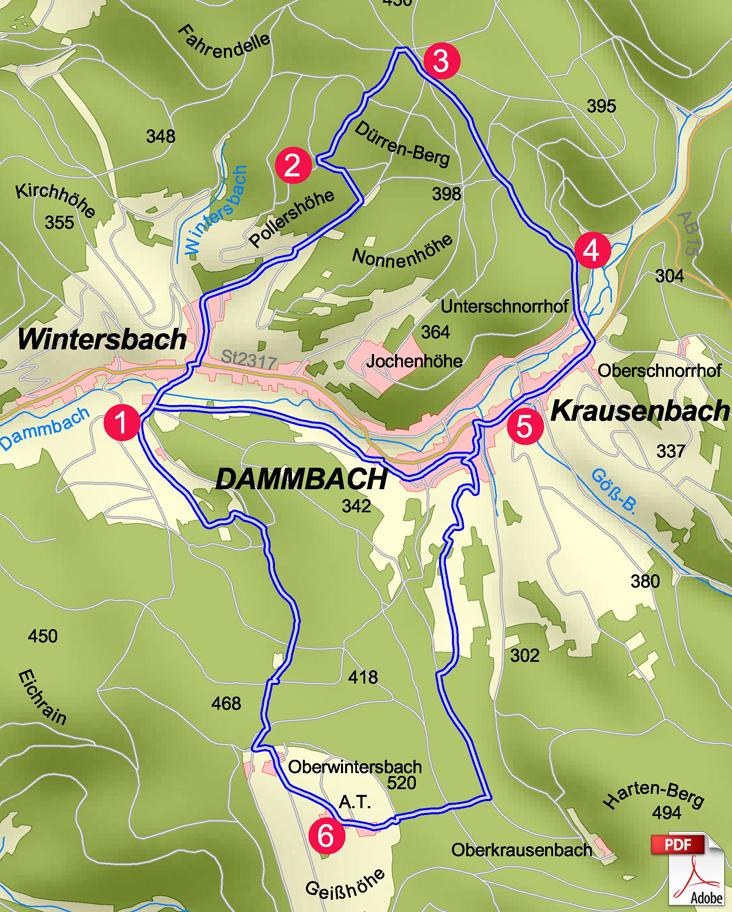 KW Dammbach Karte