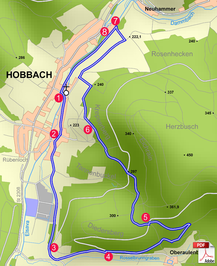 KW Eschau 2 Karte