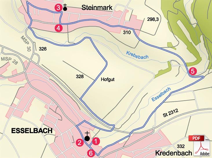 KW Esselbach Karte