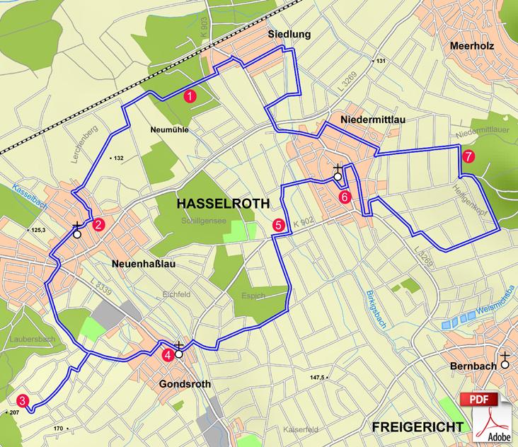 KW Hasselroth Karte