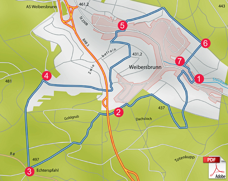 KW Weibersbrunn Karte