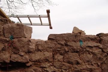 Heute wurde die Dokumentation im Bergfried abgeschlossen.