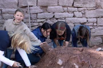 Auch der Neugier der nächsten Archäologengeneration wird Rechnung getragen.