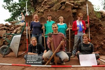 Kein Bergbau-Trupp, sondern die Grabungsmannschaft 2006