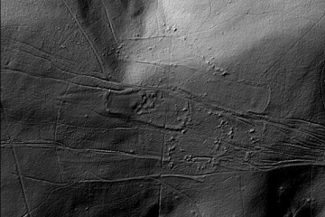 Digitales Geländemodell des Klosters Elisabethenzell. Datengrundlage:Bayerische Vermessungsverwaltung; Bearbeiter: Karl-Heinz Gertloff, Egelsbach