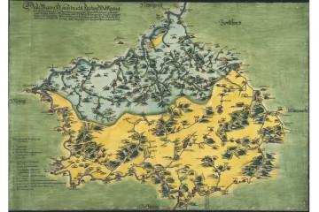 Pfinzing-Karte von 1594 (StA Nürnberg)