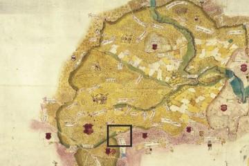 Jagdgerechtigkeiten im östlichen Spessart um 1600 (StA Würzburg, Mainzer Risse und Pläne XI/69m)