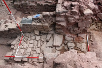Renaissancezeitliche Rampe zum Erdgeschoss des Palas