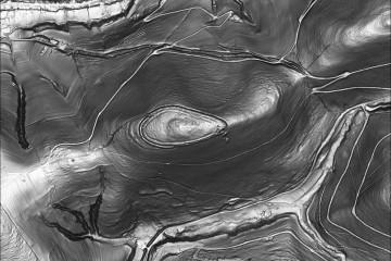 Im Digitalen Geländemodel ist die Altenburg als Ringwall deutlich zu erkennen. Datengrundlage: Bayerische Vermessungsverwaltung; Bearbeiter: Karl-Heinz Gertloff, Egelsbach