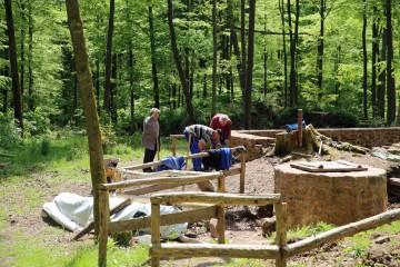 Die Grabung 2015 begann ganz im Osten der Anlage.